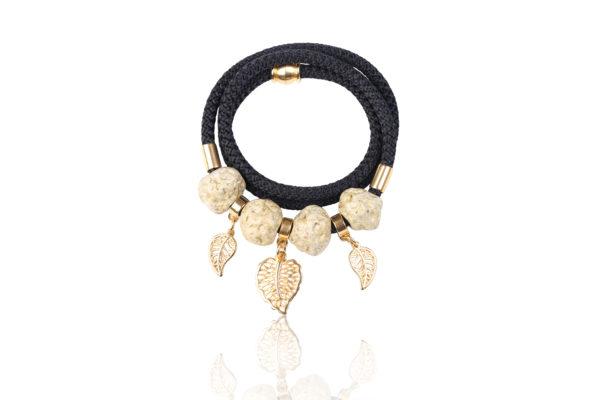 Gold Leaf Wrap Bracelet
