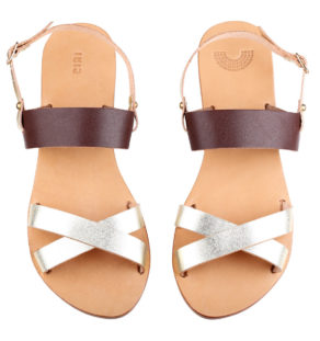 Lipe Signature lined leather sandals