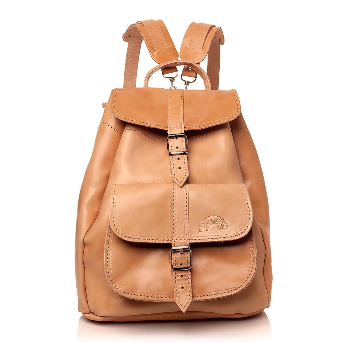 Leather Backpack in Medium - Irisandals