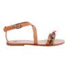 IRISANDALS_Hibiscus leather strap sandals