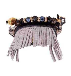 boho bracelet in dark shades