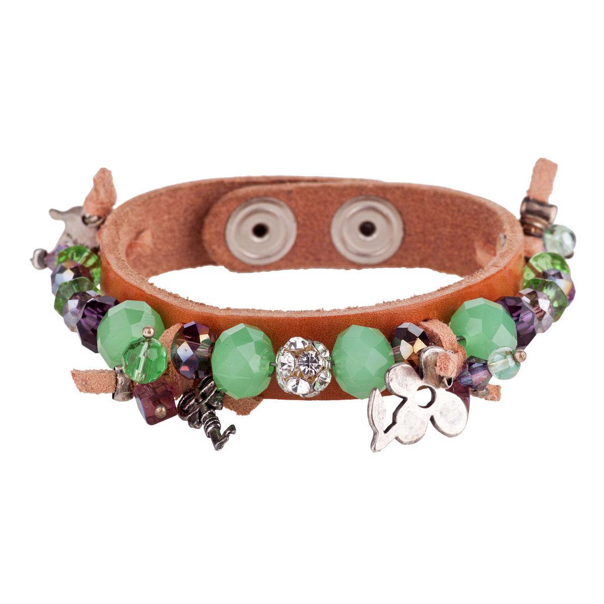Minty shades leather bracelet
