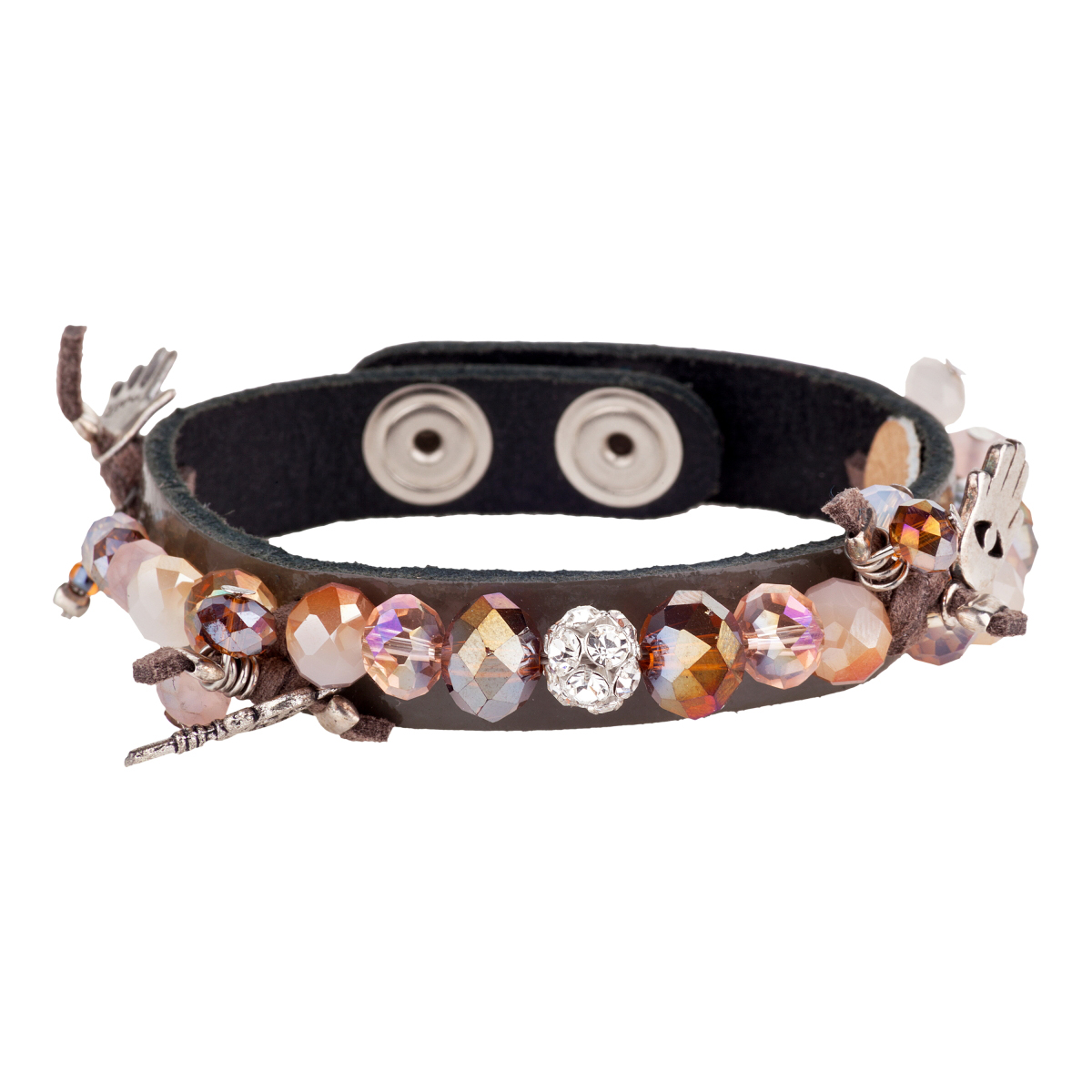 IRIS: Sandy shades leather bracelet | Accessories,Jewelry > Bracelets,Jewelry -  Hiphunters Shop