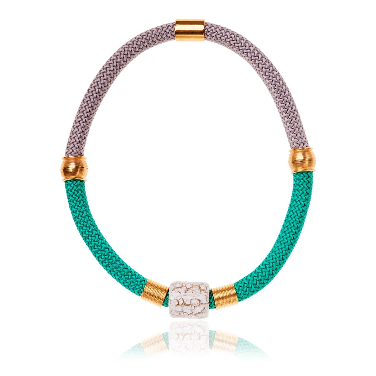 IRIS: Make a statement bracelet / Grey & Gold | Accessories,Jewelry > Bracelets,Jewelry -  Hiphunters Shop