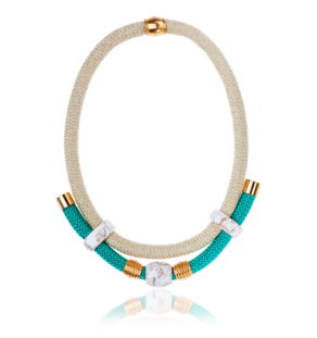 Emerald and Gold Statement Necklace