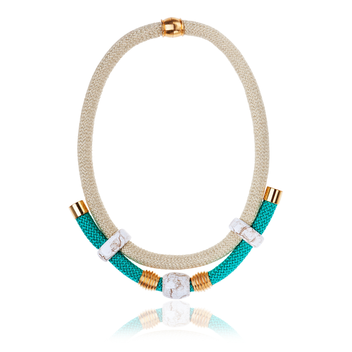 IRIS: Make a statement necklace / White & Mint | Accessories,Jewelry > Necklaces,Jewelry -  Hiphunters Shop
