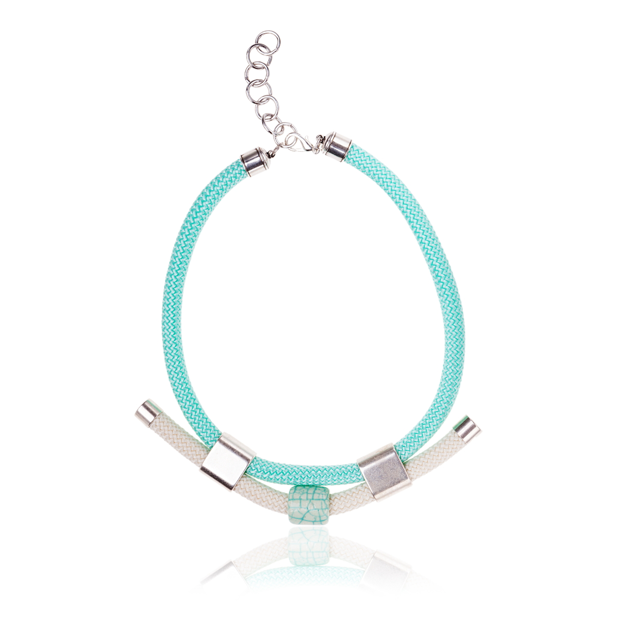 IRIS: Make a statement necklace / Aqua marine and Silver | Accessories,Jewelry > Necklaces,Jewelry -  Hiphunters Shop