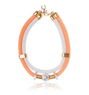 Peach Goddess Statement Necklace