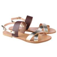Lipe gold leather sandals @ irisandals IRIS