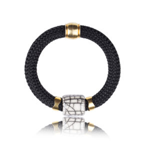 Black Statement Bangle
