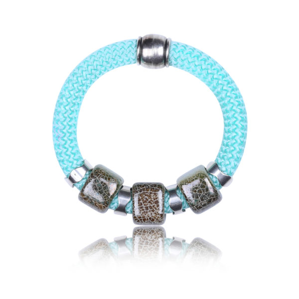 Aquamarine Statement Bangle