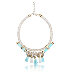 Mediterranean Aqua Statement Necklace