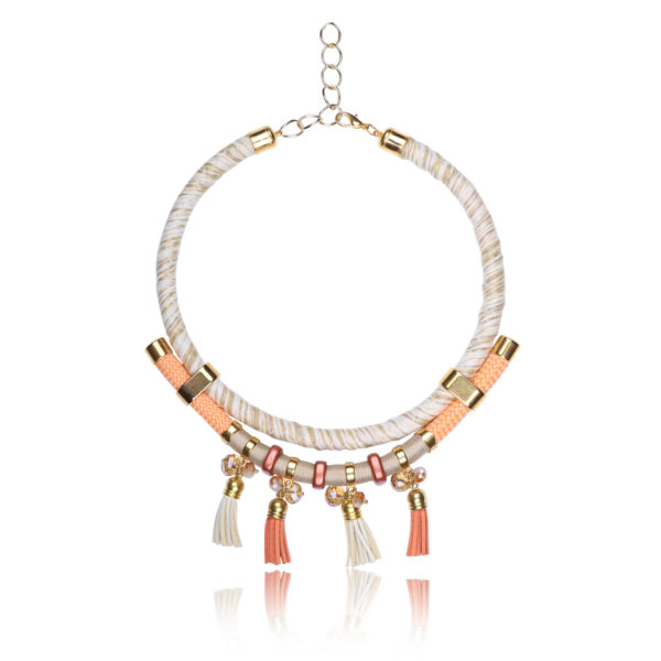 Sunset Orange Statement Necklace