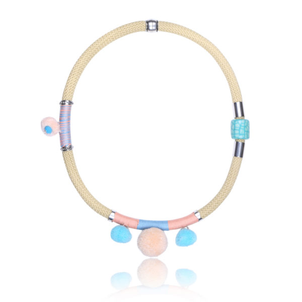 Pastel and Beige Statement Necklace