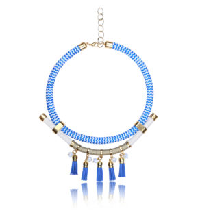 Mediterranean blue statement necklace