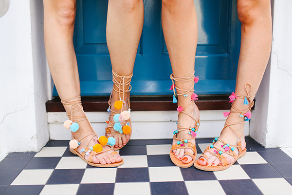 colourful summer sandals