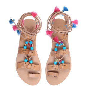 gladiator tassel sandals leather sandals IRIS